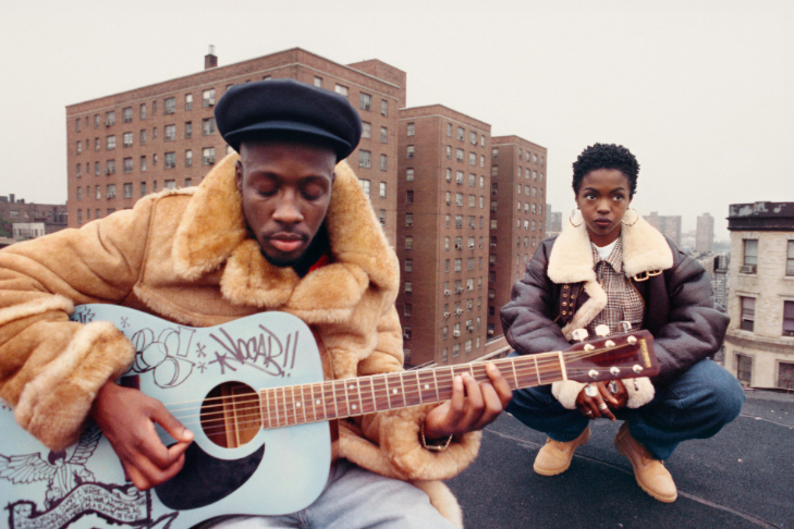 Photo of The Fugees in East Harlem in 1994