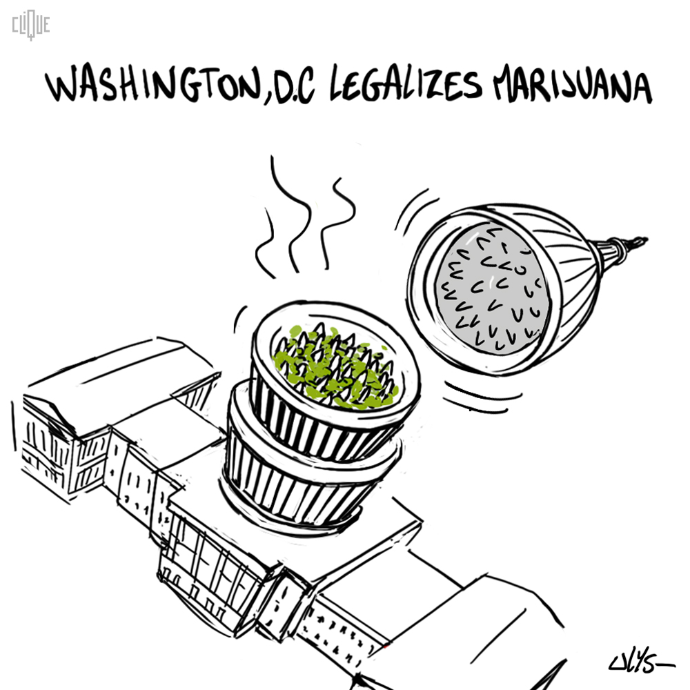 Drawing washiongton legalizes marijuana