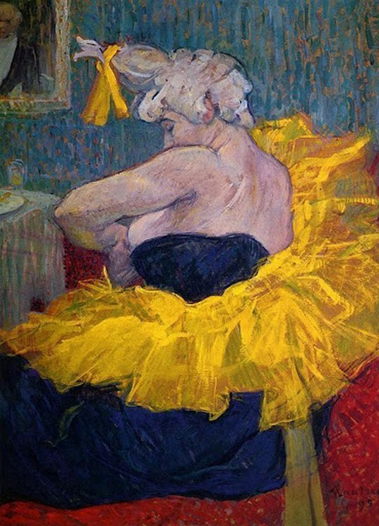 Toulouse-Lautrec_ Clownesse Cha U Kao at Moulin Rouge 1895i