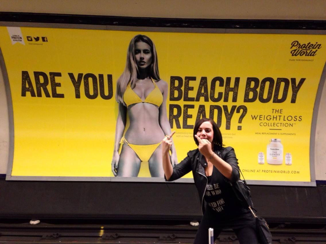 beach body métro jaune
