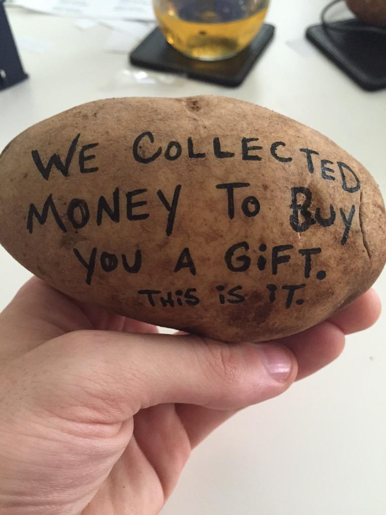 Patate message money