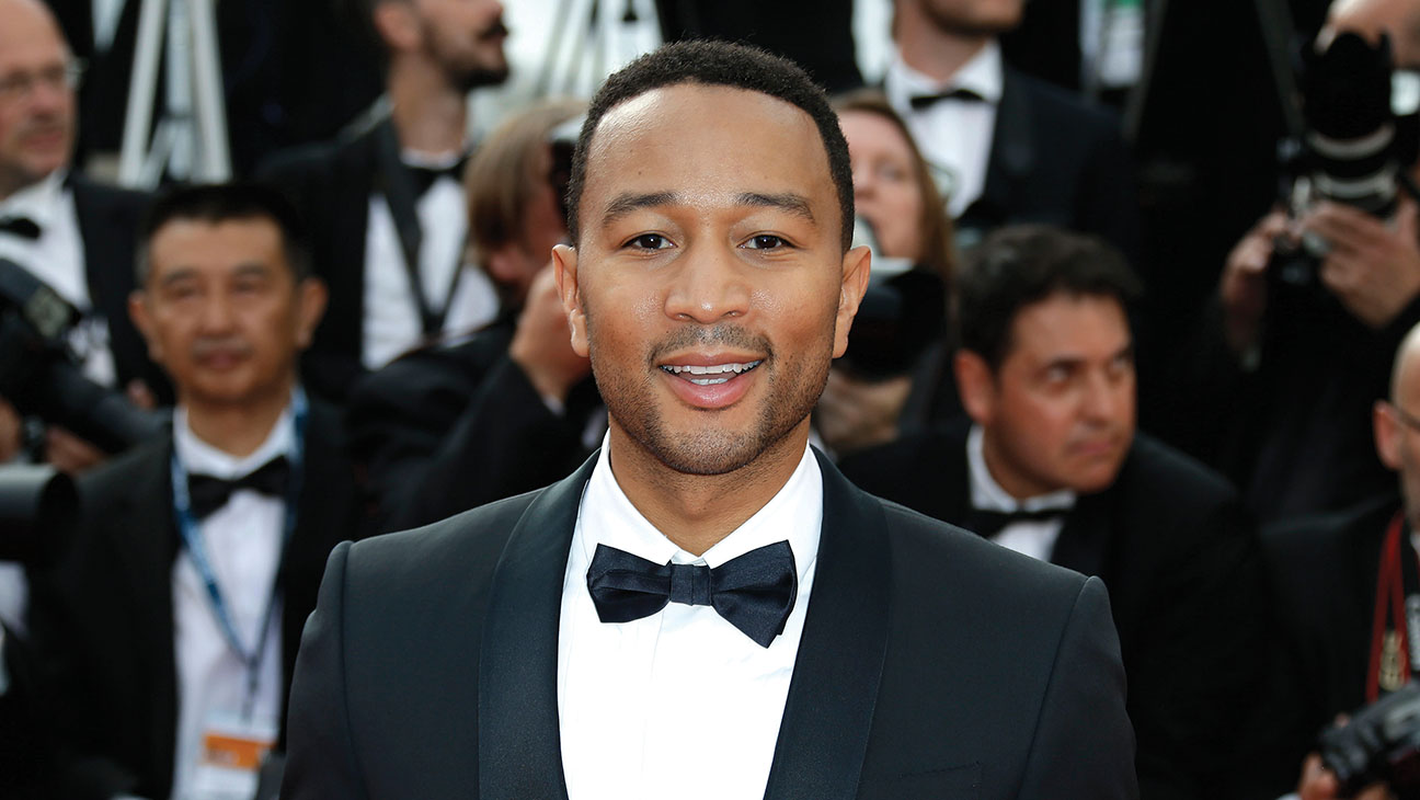 John Legend arrives for the opening ceremony and the screening of the film La Tete Haute (Standing Tall) at the 68th international film festival, Cannes, southern France, Wednesday, May 13, 2015.