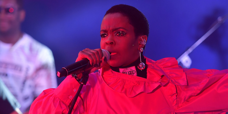 PARIS, FRANCE - MARCH 01: Lauryn Hill performs at Kenzo La Collection Memento No. 1 event at Kenzo Headquarters on March 1, 2017 in Paris, France. (Photo by Victor Boyko/Getty Images for Kenzo)